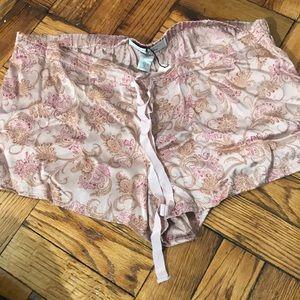 NWT Victoria's Secret 100% silk pajama shorts